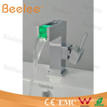 Waterfall LED Wash Basin Faucet with Single Lever