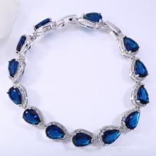 Bracelet goutte d'eau bleu bijoux insolite