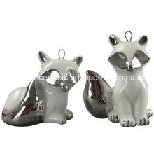 Pendentif en céramique plaqué or, porcelaine Fox Gift Hang Décoration Accessoire