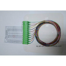 Sc / APC 12 Farbcodierte Faser Opical Pigtail