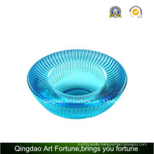 Round Ribbled Glass Tealight Candle Holder Manufacturer