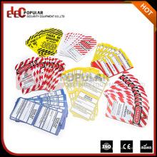 Elepopopular Best Selling Products Красочные значки безопасности для безопасности OEM Блокировка ПВХ Промышленная метка Tags