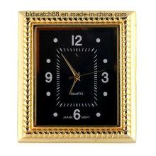 Mini Clock Square Case Quarz Uhr Einsätze mit Japan Bewegung