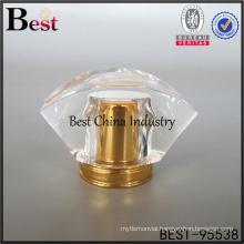 clear flower cap perfume cap for perfume free sample made in china