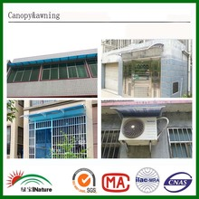 Factory three sheets Black color Window canopy/awning for roof/pc sheet/pc solid sheet awning/canopy