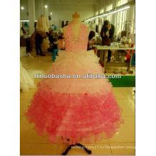 Органза Бисером Платье Девушки Цветка