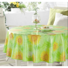 Toalha de mesa de plástico com não tecido (TJ0320-A)