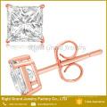 Brincos de aço inoxidável cirúrgicos da zircônia 316L