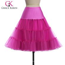 Grace Karin Mujer A-line corto vestido retro Vintage Crinolina Rockabilly Underskirt Enagua CL008922-12
