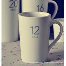 Tasses à café en céramique avec des conceptions de logo pour les clients