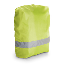 High visibility bag cover with reflective tape