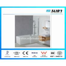 Baignoires de bonne qualité et douche avec verre trempé plat