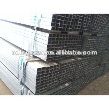 Peso del tubo de acero cuadrado galvanizado Q235B