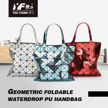 Сумка с геометрическим рисунком в виде капли, сумка из веганской кожи, сумка через плечо, модная сумка