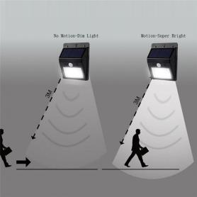 IP65 Luz solar adaptable con sensor de movimiento