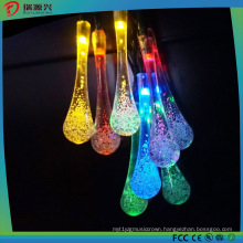 2016 Wholesale Christmas Decorations Colorful Water Drop String LED Lighting