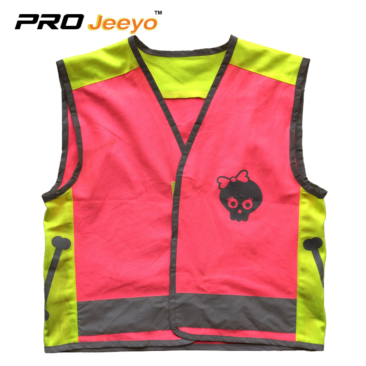 Childrens pink reflective safety vest wholesale