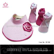 2015 moda feminina sol viseira chapéus