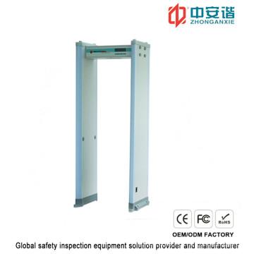 Detecção de metais com moldura de porta com sensores de alta sensibilidade com infravermelho duplo