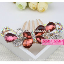 wholesale princess real diamond bridal hair accessories