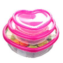 Envase de comida plástico único del diseño 3PCS 2015