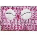 Children Baby Kids Knitted Owl Bird Printing Embroidery Hat Warm Beanie (HW633)