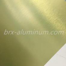 Colorized Anodized Brushed Aluminum Plate
