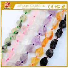 Natural Raw Rough Gemstone Crystal Beads no polished