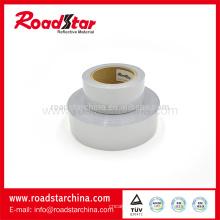 Poliéster y spandex material doble a tela elástico reflexiva del lado