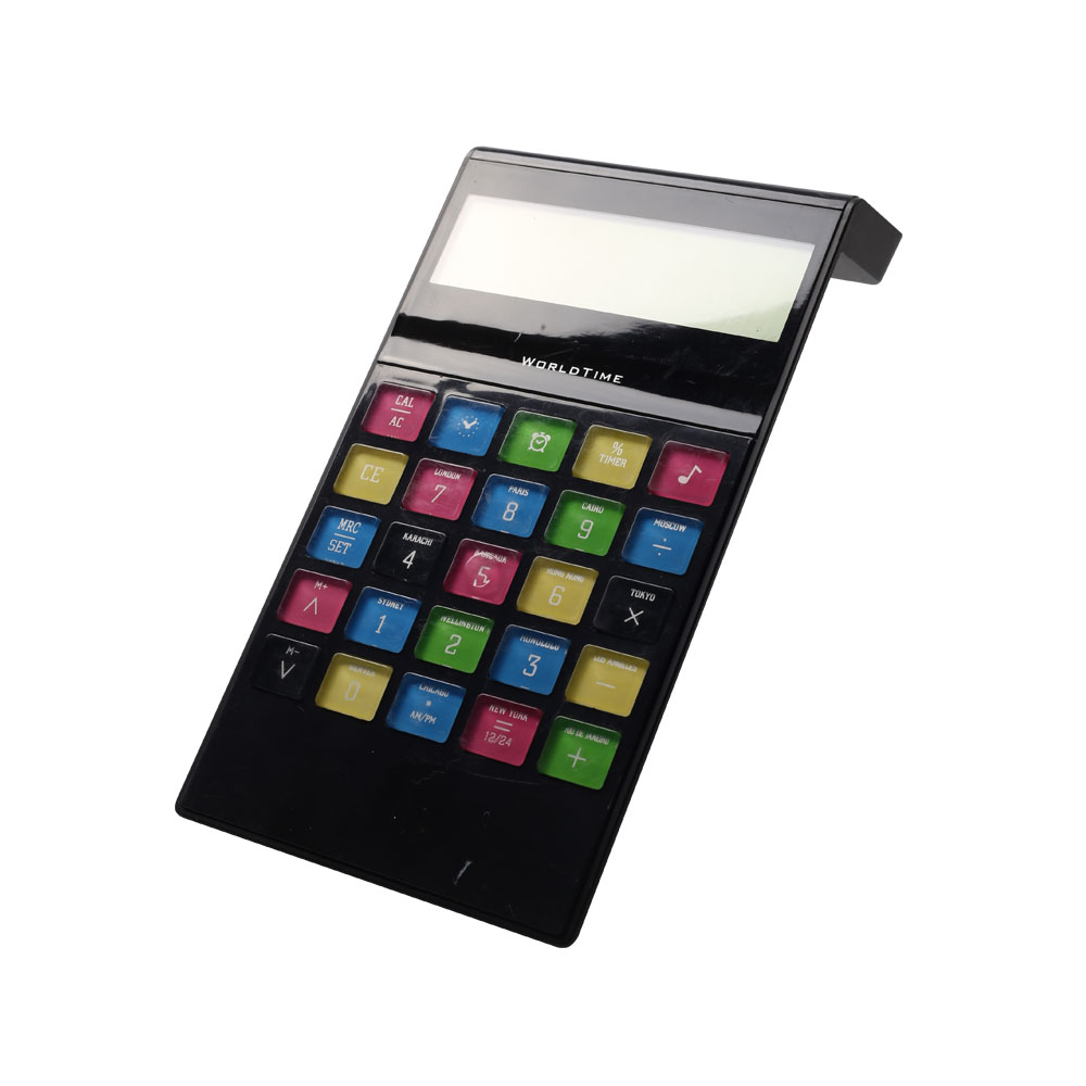 8 Digits World Time Desk Calculator with Colorful Button