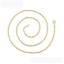 45121 venta caliente xuping moda collar 18K color oro Sin piedra simple collar