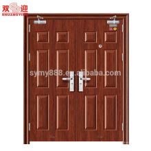 Puerta ignífuga de acero inoxidable de alta calidad con diseños modernos