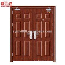 Latest grill design steel entrance fireproof door with door closer