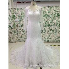 Fit и блики видеть сквозь назад свадебное платье с тюль рукава