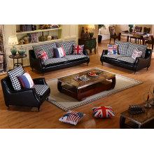 Черный цвет взрыва модели кожаный диван (C025)