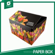 Boîte d'emballage de fleur de carton d'impression offset fleur pleine