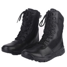 Good Quality Black Leather Police Tactical Boots Military Boots (2006)
