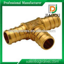 dzr high quality brass pipe fitting unequal or reducing tee