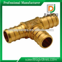 Tubo de latão de alta qualidade dzr montagem tee desigual ou reduzindo