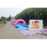custom Splash Inflatable Water slides plastic slip n slides