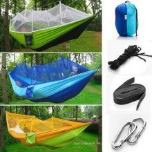 Hängematte Portable 2 Person Hängematte Hohe Kraft Fallschirm Nylon Hamacas Camping Nylon Hängematte Fallschirm Hängende Hängematte Amaca