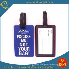 2015 Fashion Hotsale Custom PVC Luggage Tag