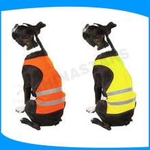 Haustierhund hohe Sichtbarkeit reflektierende Sicherheitswesten