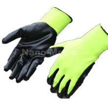 NMSAFETY polyester liner nitrile dipped gloves EN388:2016 3121X