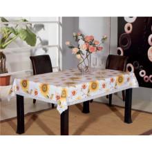 PVC-bedruckte Muster Tischdecke mit Unterstützung (TJD110)