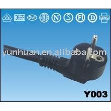 Cordon secteur européen mis 250 volts cordon professionnel puissance câble H05BQ-F