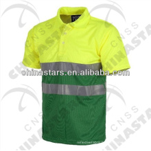 Reflective Two Tone Polo Shirt Short Sleeves in Various Color Combination