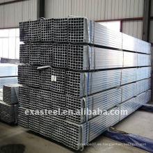 Valla de carril ERW galvanizado tubo de acero cuadrado / GP tubería