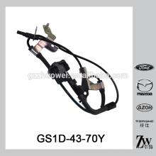 Sensor original del ABS de la rueda de coche de la calidad para el sensor de la velocidad de la rueda de la venta para Mazda 6 / Chevrolet OEM.GS1D-43-70Y