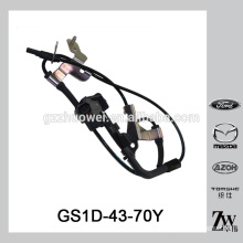 Original quality car wheel ABS sensor for sale wheel speed sensor for Mazda 6/Chevrolet OEM.GS1D-43-70Y